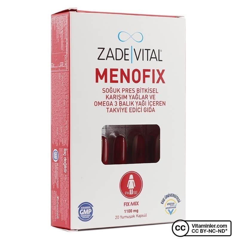 Zade Vital Menofix 1100 Mg 20 Kapsül