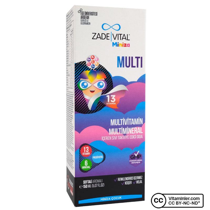 Zade Vital Miniza Multivitamin ve Multimineral 150 mL