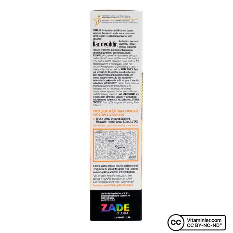 Zade Vital Miniza Omega 3 ve Yer Fıstığı Yağı 150 mL