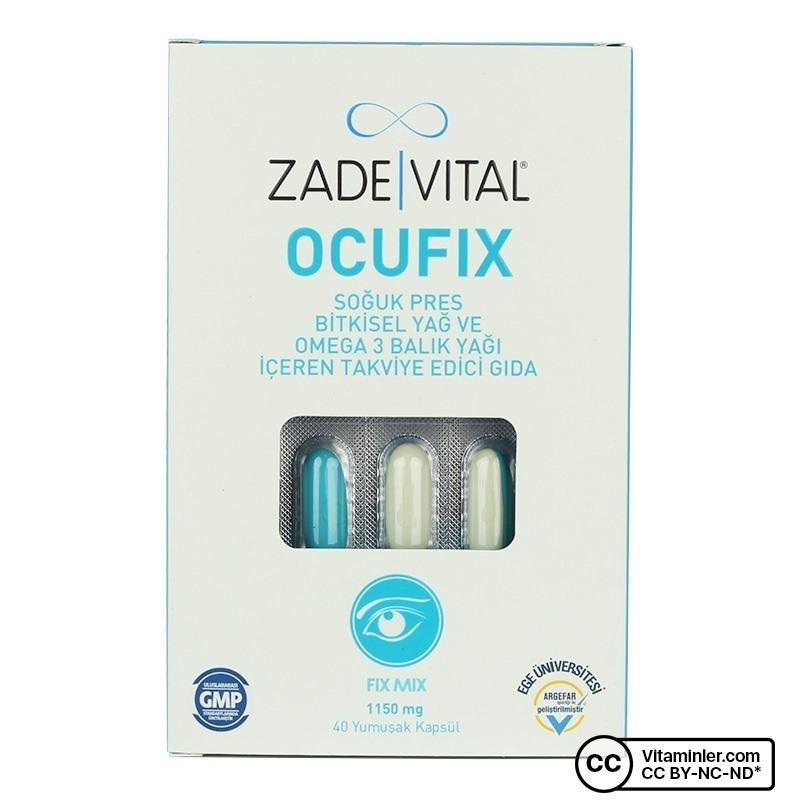 Zade Vital Ocufix 1150 Mg 40 Kapsül