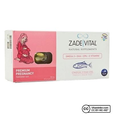 Zade Vital Omega 3 Balık Yağı 900 Mg Hamileler için 30 Kapsül