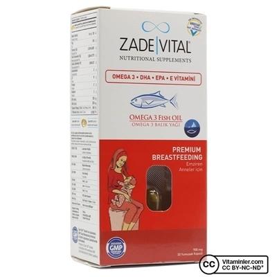 Zade Vital Omega 3 Balık Yağı 900 Mg Emziren Anneler İçin 30 Kapsül