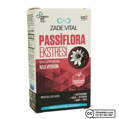 Zade Vital Passiflora 30 Kapsül