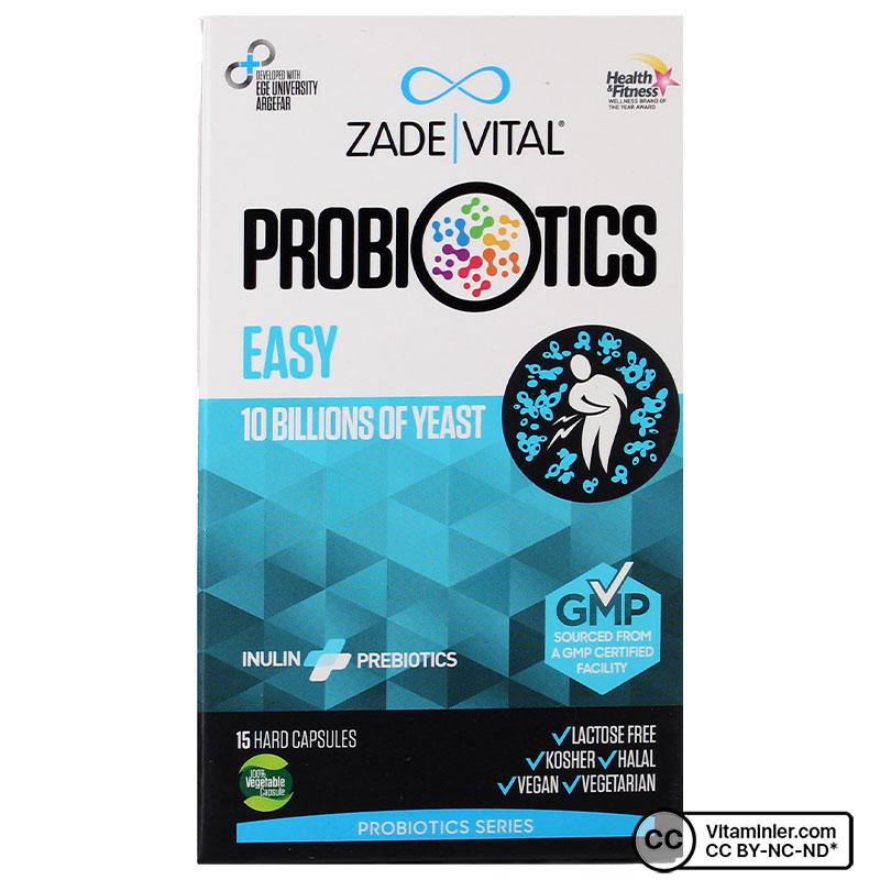 Zade Vital Probiyotik Easy 15 Kapsül