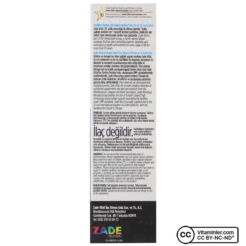 Zade Vital Probiyotik Reforma 30 Kapsül