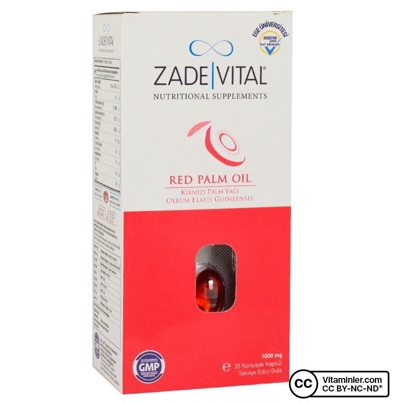 Zade Vital Red Palm Oil 1000 Mg 30 Kapsül