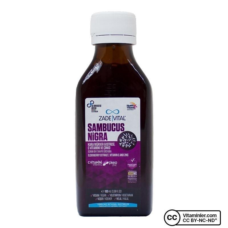 Zade Vital Sambucus Nigra C Vitamini + Çinko 100 mL