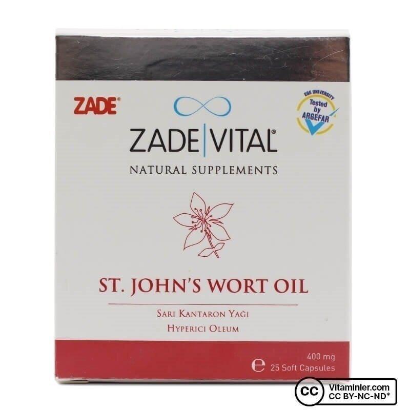 Zade Vital Sarı Kantaron 400 Mg 25 Patlatılabilen Kapsül
