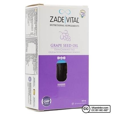 Zade Vital Üzüm Çekirdeği Yağı 500 Mg 30 Kapsül