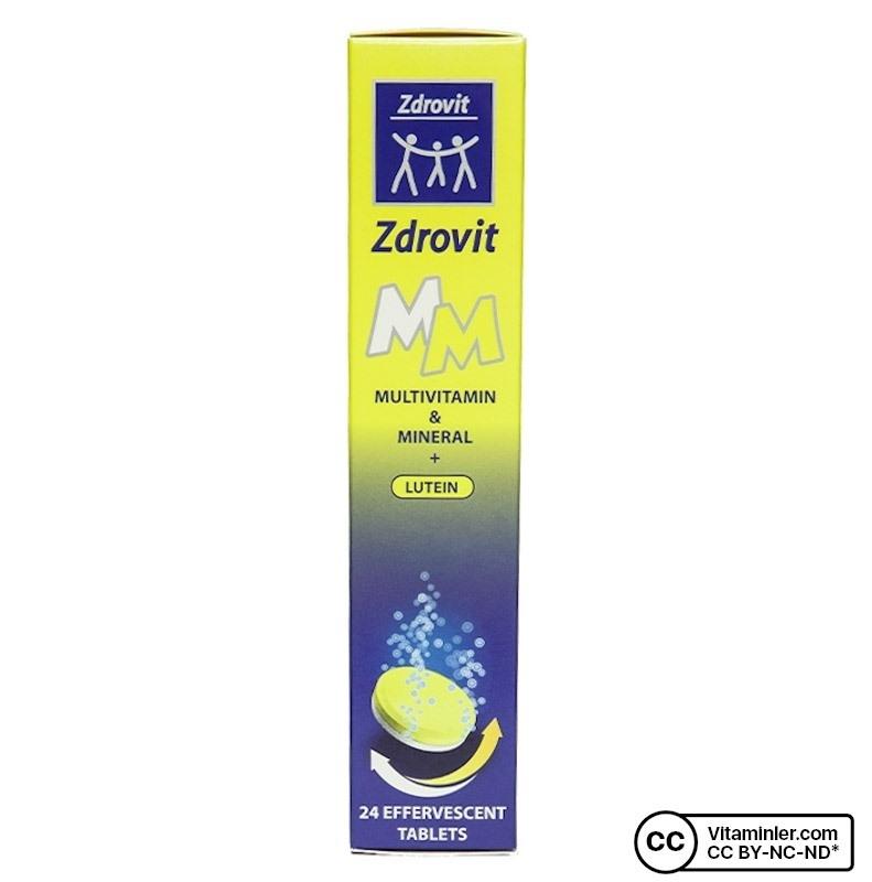 Zdrovit Multivitamin Mineral Lutein Efervesan 24 Tablet