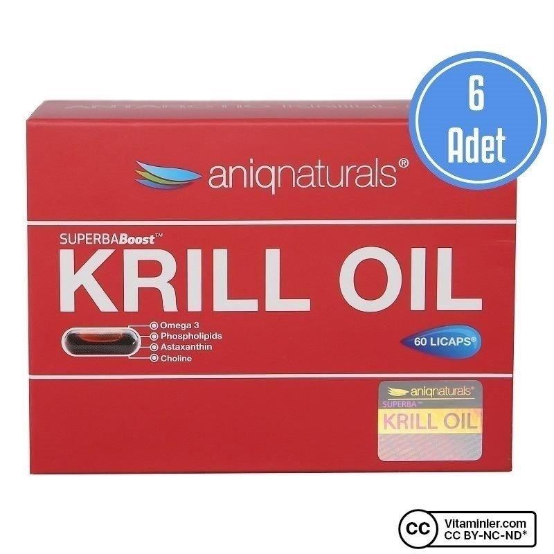 Aniqnaturals Superba Krill Oil 60 Kapsül 6 Adet