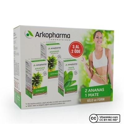 Arkopharma 2 Adet Ananas + 1 Adet Mate Seti