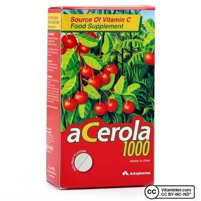 Arkopharma Acerola 1000 C Vitamini 30 Çiğneme Tableti