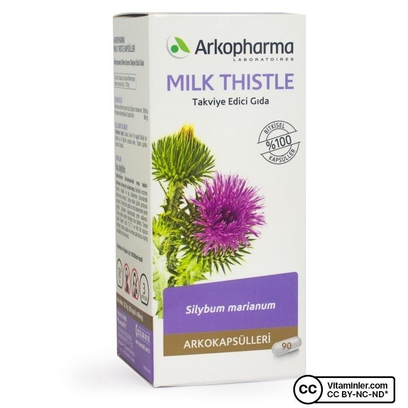 Arkopharma Milk Thistle 390 mg 90 Kapsül