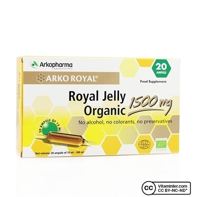 Arkopharma Royal Jelly Organic 1500 mg 20 Ampül