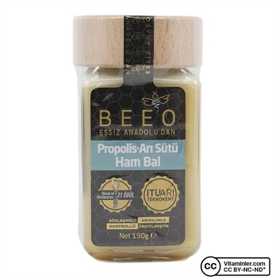 Bee'o Propolis Arı Sütü Ham Bal 190 Gr