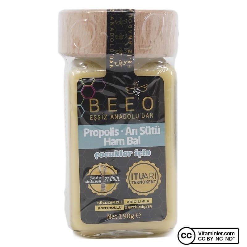 Bee'o Propolis Arı Sütü Ham Bal (Çocuk) 190 Gr