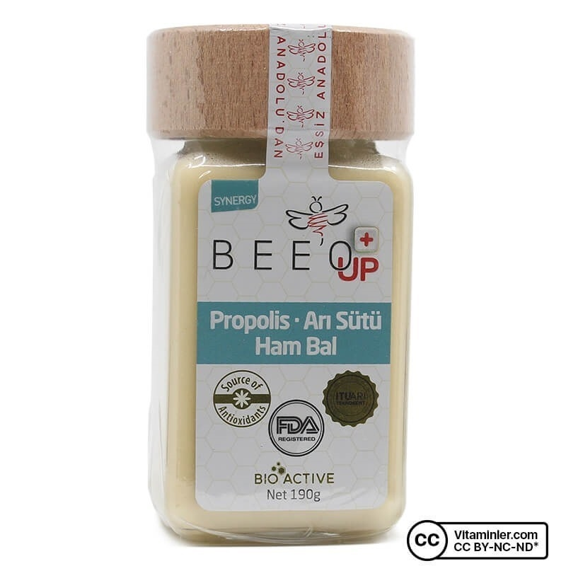 Bee'o UP Propolis Arı Sütü Ham Bal 190 Gr