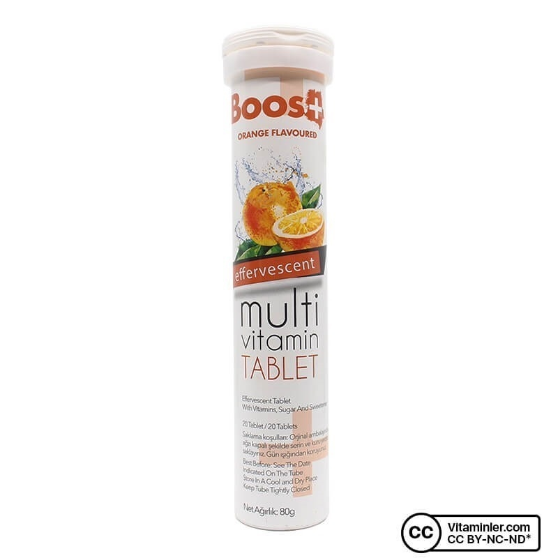 Boos+ Multivitamin 20 Efervesan Tablet