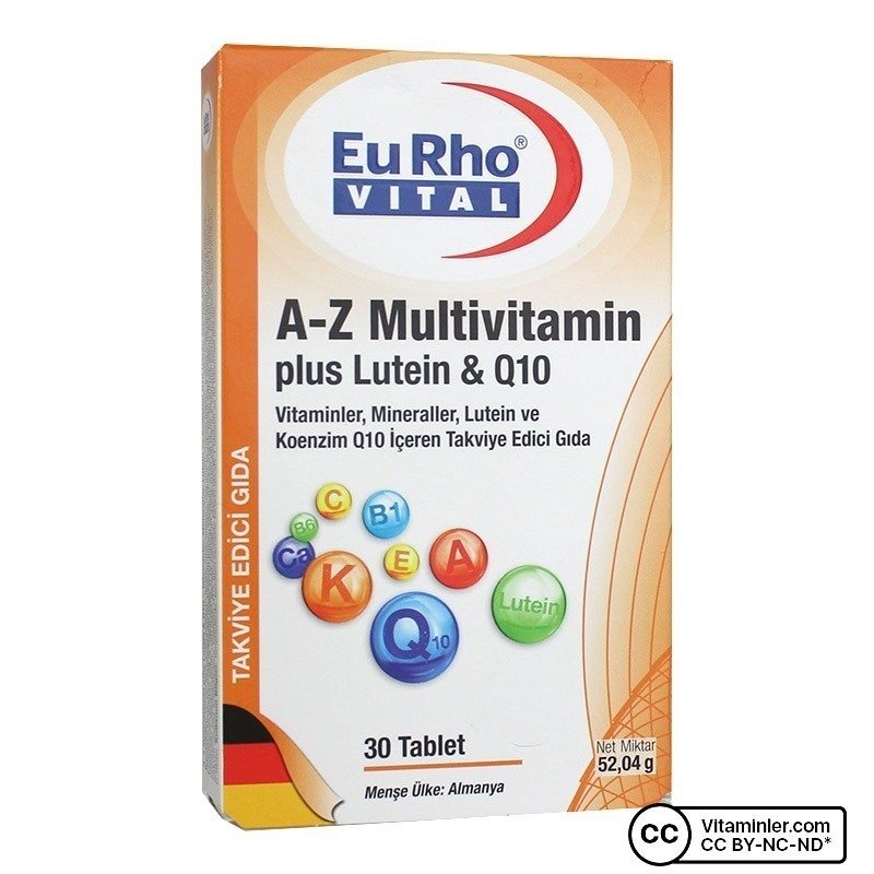 Eurho Vital A-Z Multivitamin Plus Lutein & Q10 30 Tablet