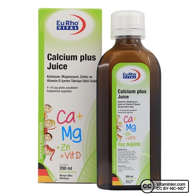 Eurho Vital Calcium Plus Juice 200 Ml