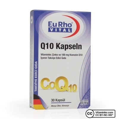 Eurho Vital Q10 Kapseln 100 mg 30 Kapsül
