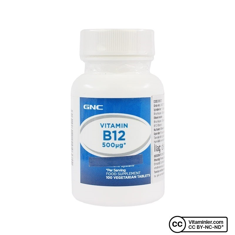 GNC B12 Vit 500 Mcg 100 Tablet