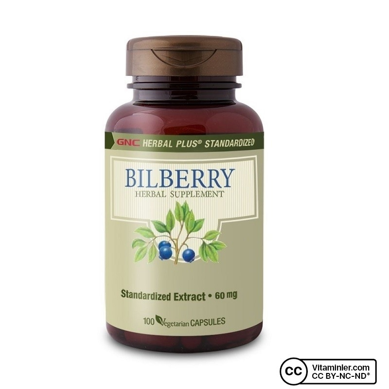 GNC Bilberry 60 mg 100 Kapsül