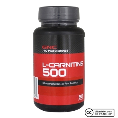 GNC L-Carnitine 500 mg 60 Tablet