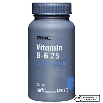 GNC Vitamin B6 25 mg 100 Tablet
