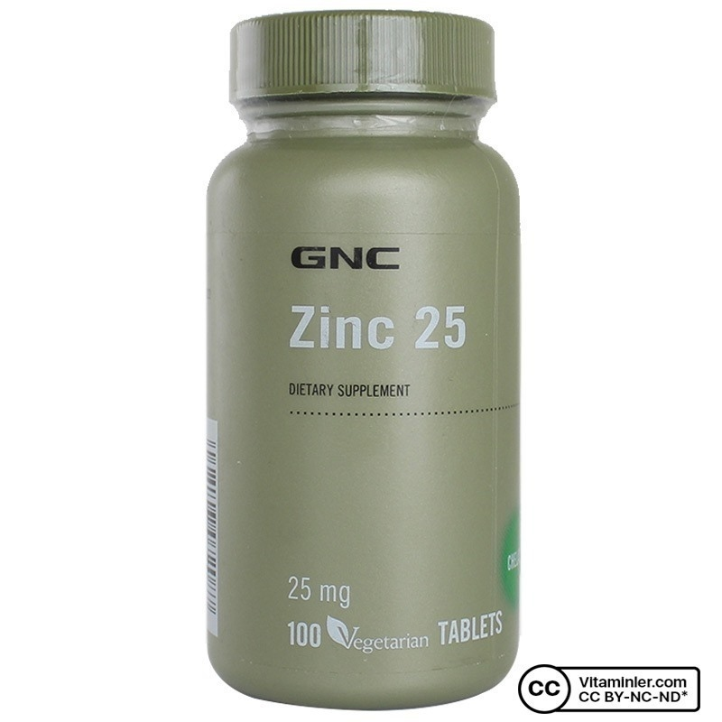 GNC Zinc 25 mg 100 Tablet