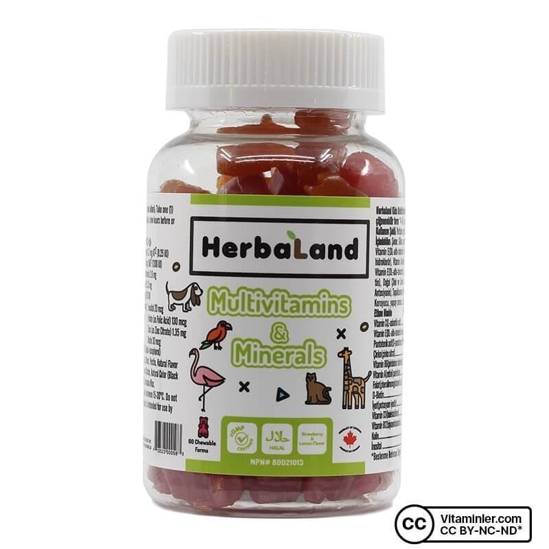 Herbaland Gummy Vegan Multivitamins & Minerals 60 Tablet