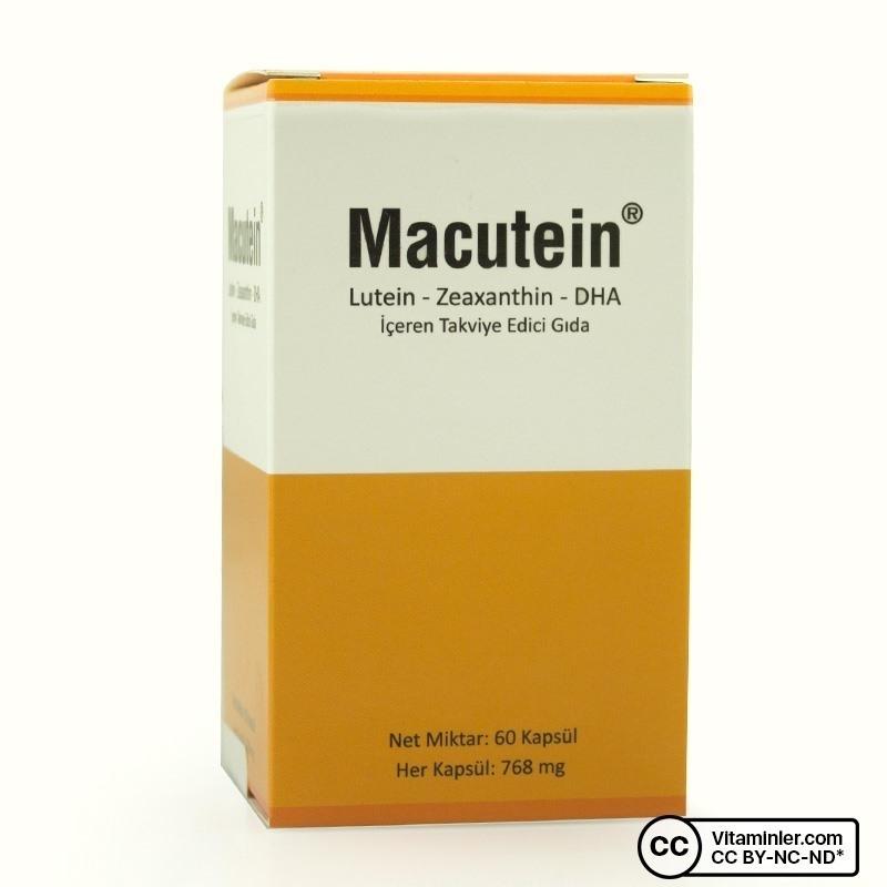 Macutein Lutein Zeaxanthin DHA 60 Kapsül