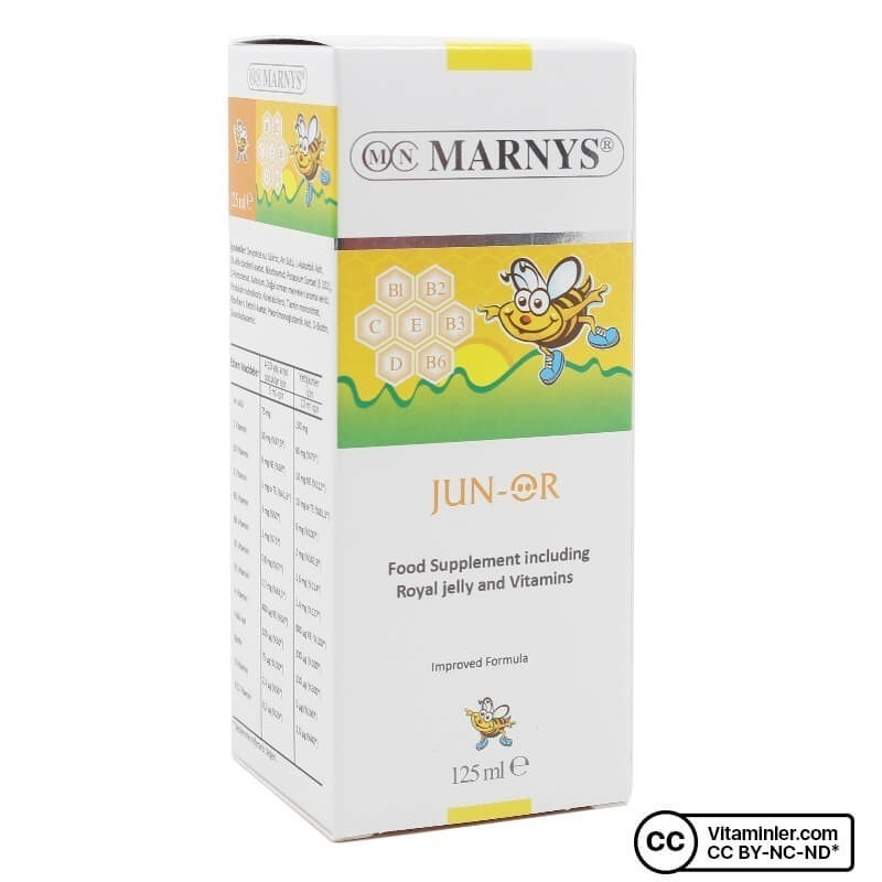 Marnys Jun-or Multivitamin ve Arı Sütü 125 ml