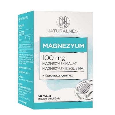 NaturalNest Magnezyum 100 Mg 60 Tablet