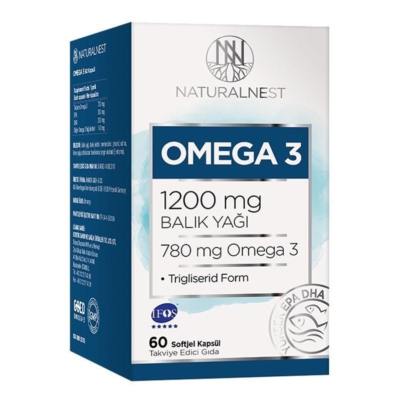 NaturalNest Omega 3 1200 Mg Balık Yağı 60 Kapsül