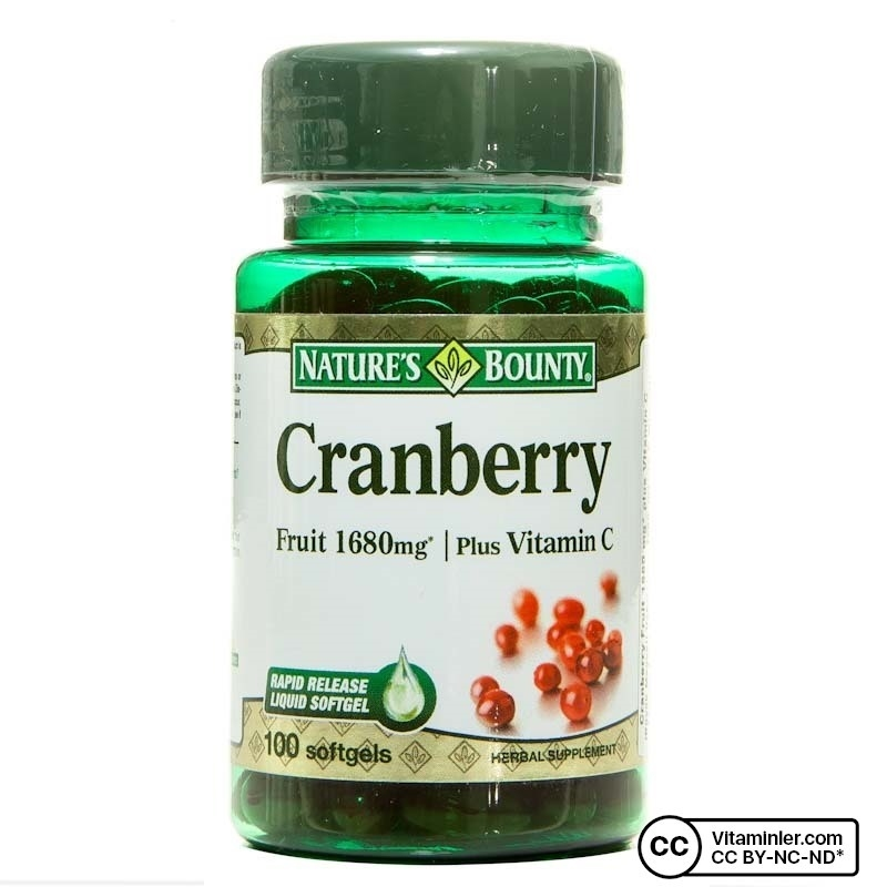 Nature's Bounty Cranberry Plus Vitamin C 100 Kapsül