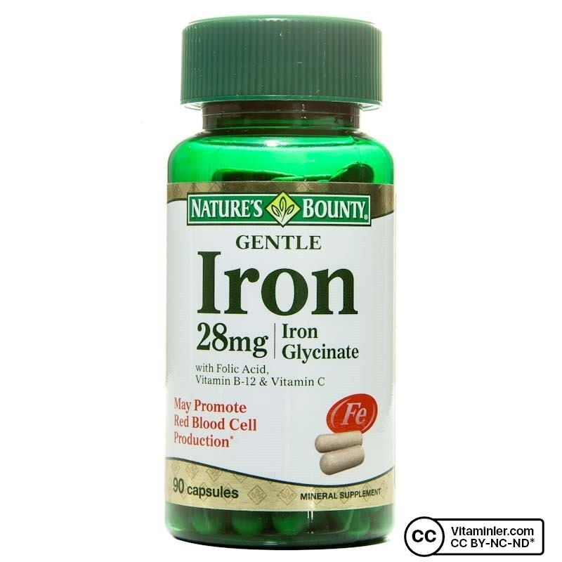Nature's Bounty Gentle Iron 28 mg 90 Kapsül