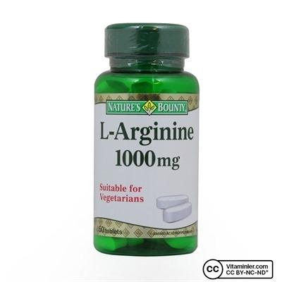 Nature's Bounty L-Arginine 1000 Mg 50 Tablet