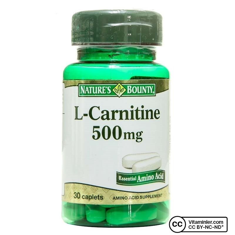 Nature's Bounty L-Carnitine 500 mg 30 Tablet