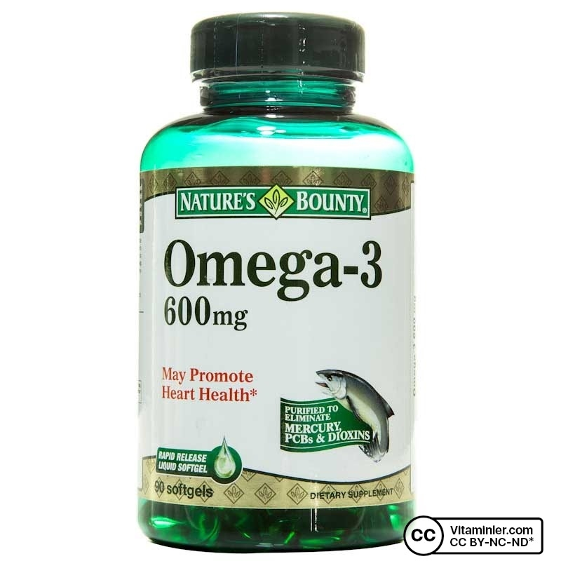 Nature's Bounty Omega-3 600 mg 90 Kapsül