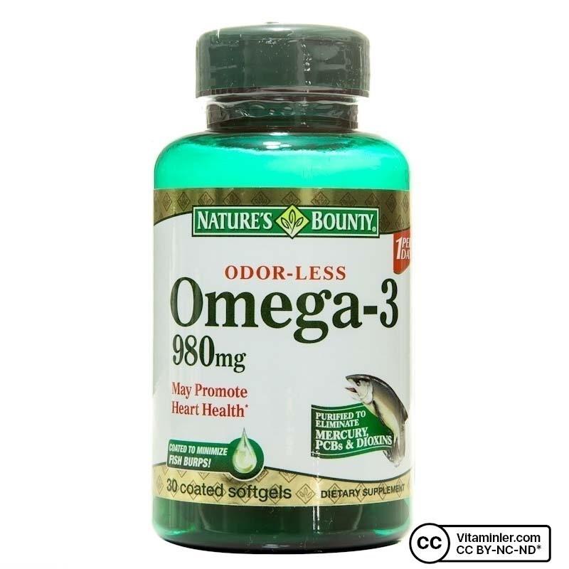 Nature's Bounty Omega-3 980 mg 30 Kapsül