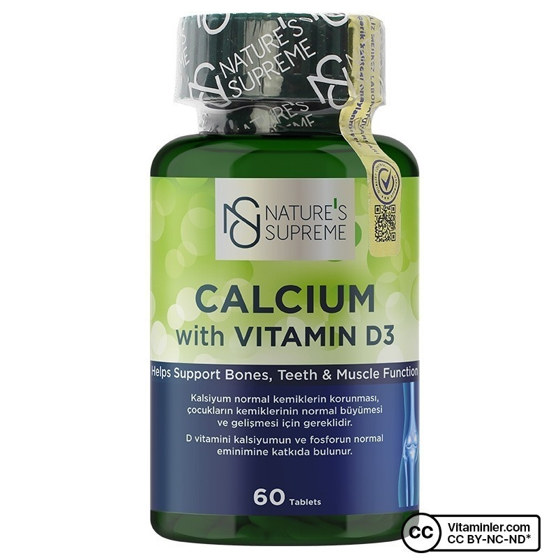 Nature's Supreme Calcium with Vitamin D3 60 Tablet