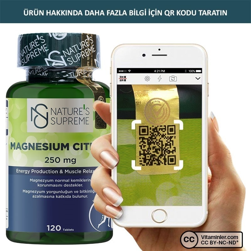 Nature's Supreme Magnesium Citrate 250 Mg 120 Tablet