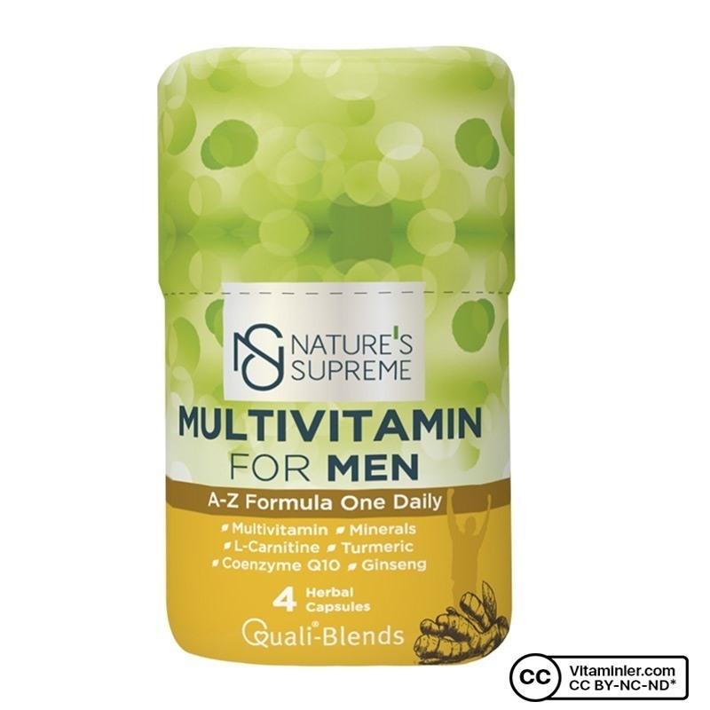 Nature's Supreme Multivitamin for Men 4 Kapsül