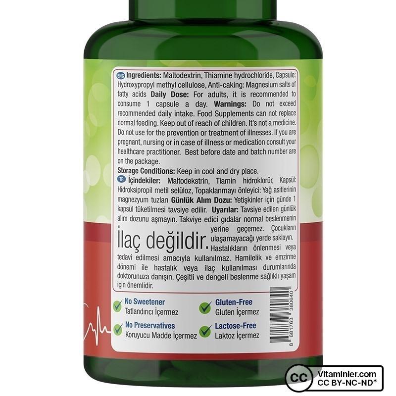 Nature's Supreme Vitamin B1 100 Mg 200 Kapsül