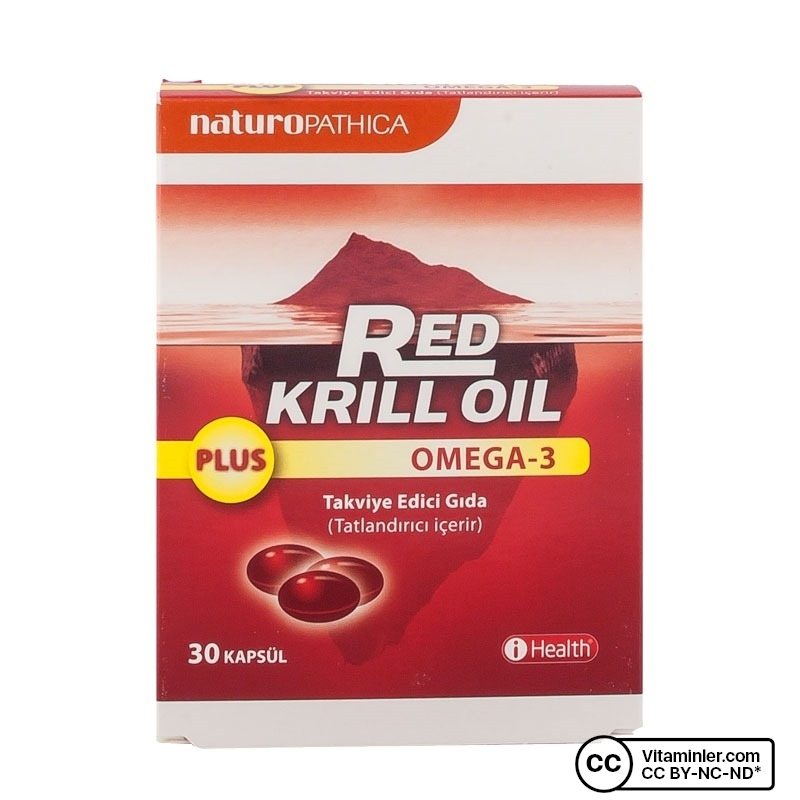 Naturopathica Red Krill Oil Plus Omega-3 30 Kapsül