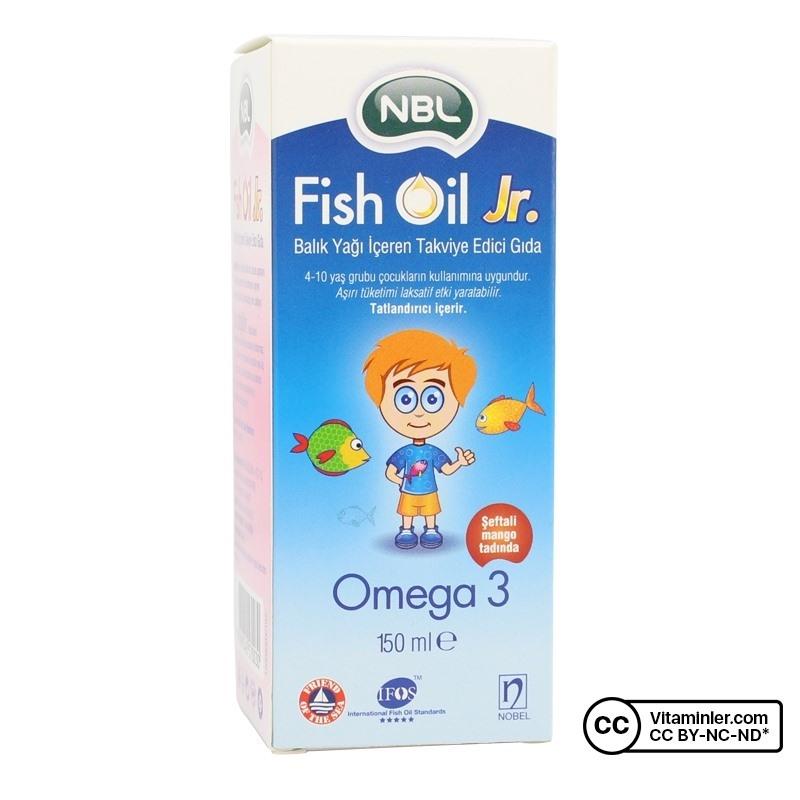 NBL Fish Oil Jr Omega 3 Balık Yağı 150 Ml