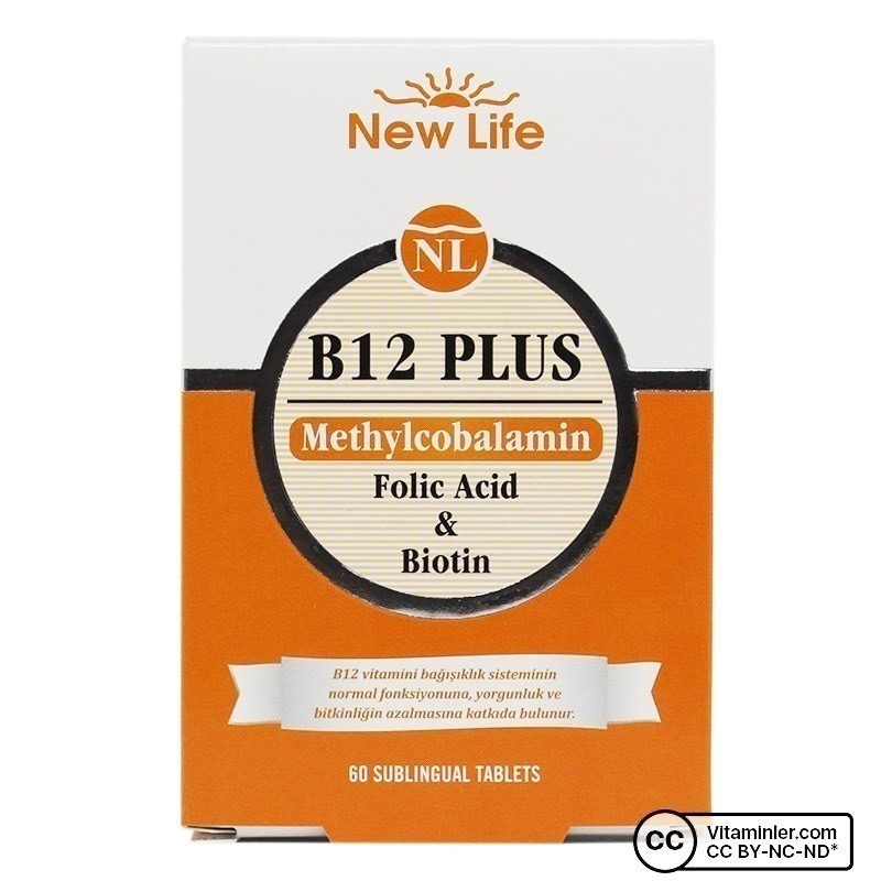 New Life B12 Plus 60 Dilaltı Tablet