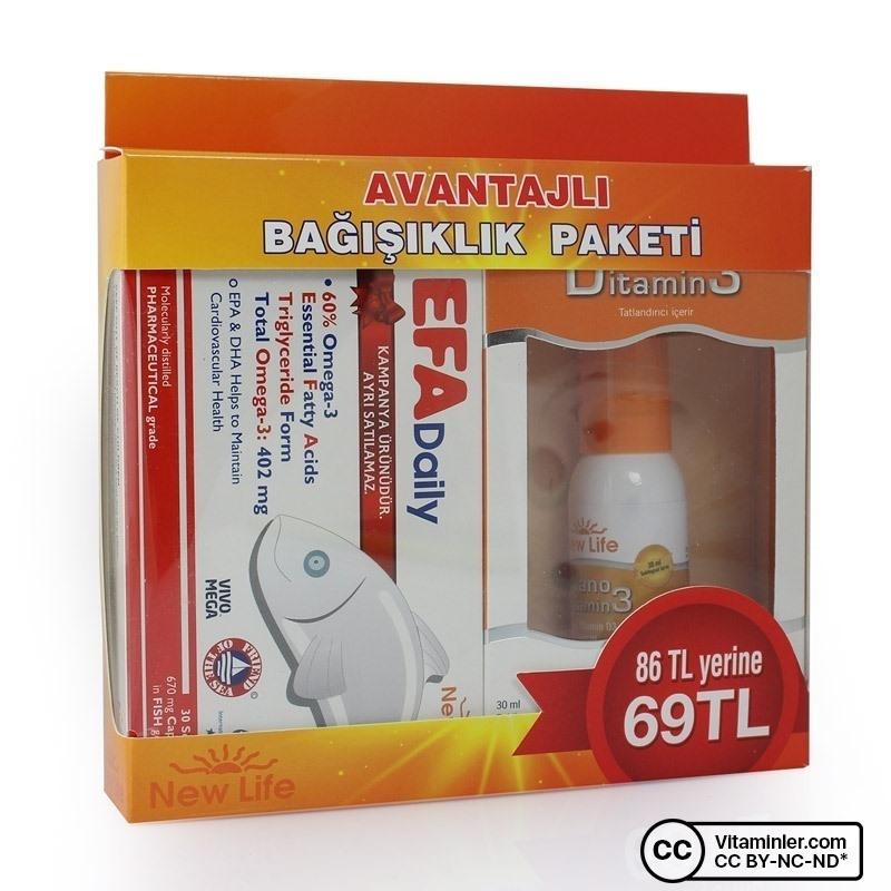 New Life Efa Daily + Vitamin D3 Avantajlı Paket